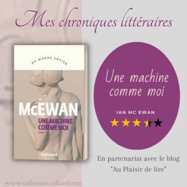 Une machine comme moi, d'Ian McEwan